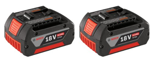 Bosch BAT620-2PK 18-volt Lithium-Ion 4.0 AH Battery with Digital Fuel Gauge, 2-Pack (Bosch Rhh181bl compare prices)