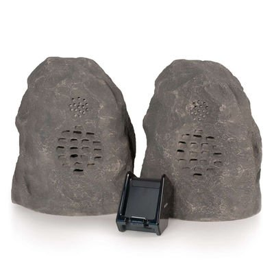 Granite Wireless Rock Speaker Bundle (Rechargeable) With Dual Power Transmitter