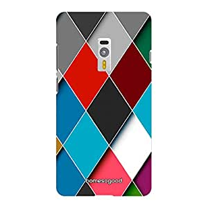 HomeSoGood Lovely Colorful Spikes Multicolor 3D Mobile Case For OnePlus 2 (Back Cover)