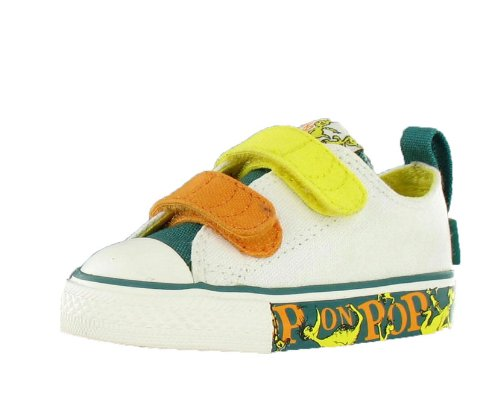 Converse Kids' All Star Chuck Taylor Velcro Dr.Seuss Casual Shoe Yellow, White, Green (10)