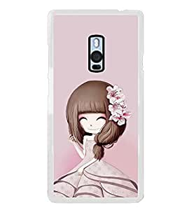 ifasho Cute Girl with Ribbon in Hair Back Case Cover for OnePlus 2