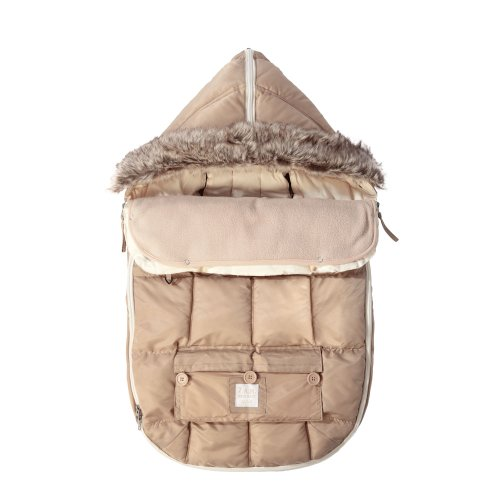 "7AM Enfant ""Le Sac Igloo"" Footmuff, Converts into a Single Panel Stroller and Car Seat Cover - Beige,Medium - 1"