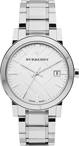 Burberry Large Check Stainless Steel Mens Watch BU9000