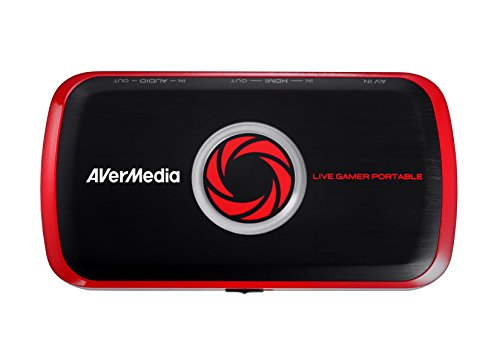 AVerMedia Live Gamer Portable, Full HD 1080p Recording Without PC Directly to SD Card, Ultra Low Latency, H.264 Hardware Encoding, USB 2.0, High Definition Game Capture, Recorder, Streaming (C875)