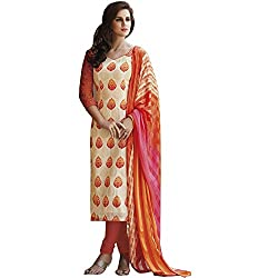 Jinaam Dress Women's Printed Bhagalpuri Salwar Suit Dupatta Material (77-TFVL-A2MV)