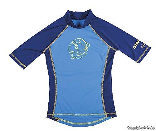 Fashy® protezione UV per bambini in tessuto UPF50+ zweiteiler conformi a Öko-Tex ® Standard 100(Textiles Vertrauen), Bambini (unisex), Blau - (2534-50), 110/116
