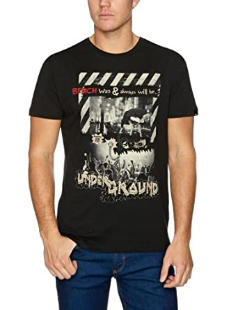 Bench Its Underground Logo Men's T-Shirt Black Small