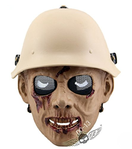 caxa Zombie Legion Airsoft Wargame Skull Face Protect Cosplay Tactical Mask