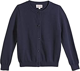 City Threads Big Girls\' Crew Cardigan Sweater - Navy - 12