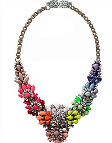 Luxury Brand Necklace Choker Colorful Flower Necklace