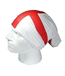ENGLAND FLAG/ST GEORGES CROSS - RUFFNEK® Multifunctional Headwear Neck warmer - One Size by RUFFNEK®