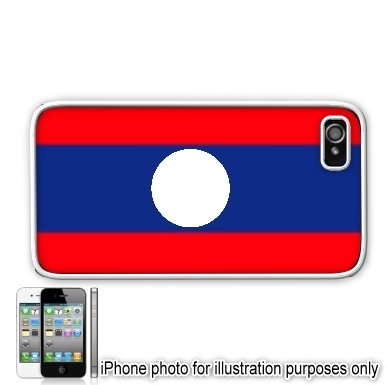 Laos LAO Flag Apple Iphone 4 4s Case Cover White