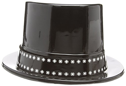 Black Plastic Top Hat - 1