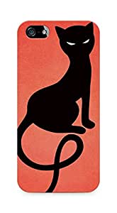 Amez designer printed 3d premium high quality back case cover for Apple iPhone 5s (Red gracious evil black cat)