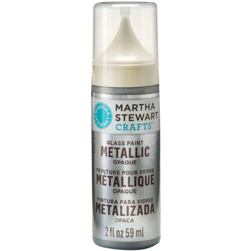 Martha Stewart Crafts Metallic Opaque Glass Paint in Assorted Colors (2-Ounce), 33143 Sterling (Martha Stewart Glass Paint compare prices)