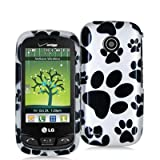 Dog Paw Design Crystal Hard Skin Case Cover for LG Cosmos Touch VN270 Phone ....