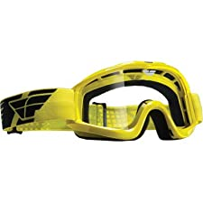 Fly Racing Focus Adult MX/Off-Road/Dirt Bike Motorcycle Goggles Eyewear - Yellow/Clear / One Size