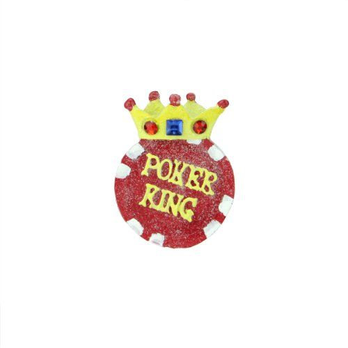 Glittery Poker King and Crown Ornament