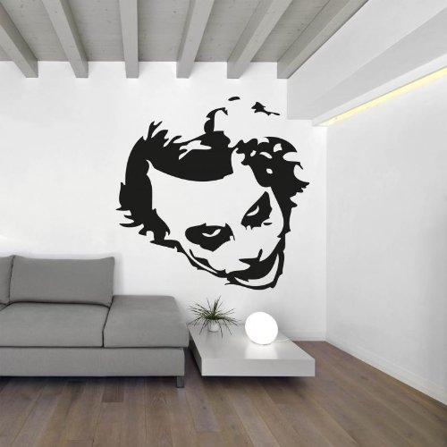 Joker Face Adesivo da parete Vinyl Wall Stickers Decals