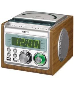 Sanyo RM-XCD900 220V CD Clock Radio  (Fitted with European style power cord plug)