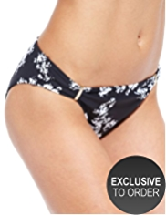 M&S Collection Monochrome Floral Hipster Bikini Bottoms