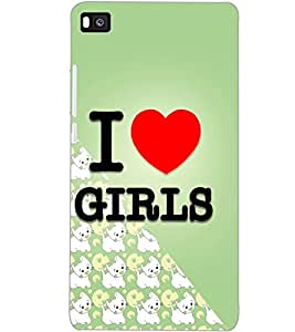 HUAWEI P8 I LOVE GIRLS Back Cover by PRINTSWAG