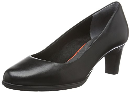 Rockport TM60MMH PLAIN PUMP, Decolleté chiuse donna, Nero (Schwarz (BLACK BURN CALF)), 36