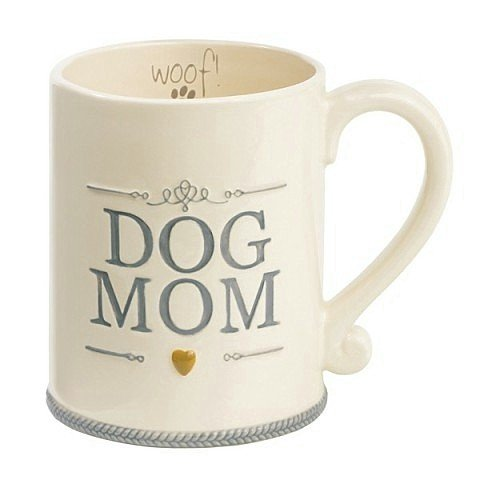 """Dog Mom"" Ceramic Coffee Mug Cup Woof Animal Pet Lover Gift Grasslands Road"