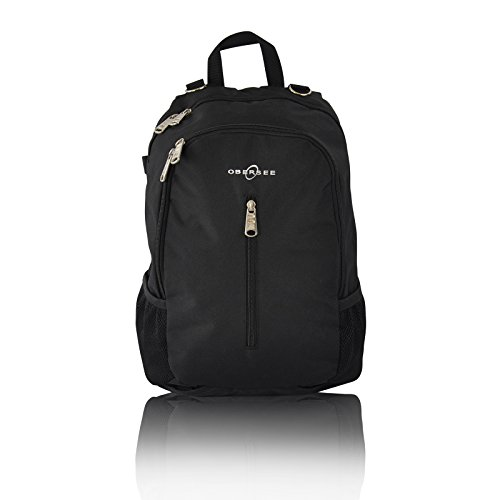 Obersee Rio Diaper Bag Backpack, Black