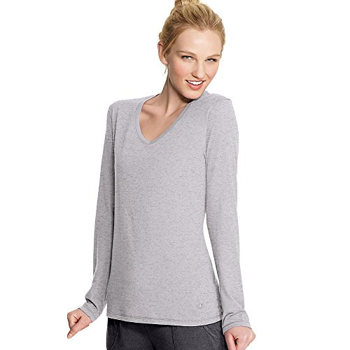 Champion Authentic Women's Jersey Long Sleeve T-Shirt_Oxford Grey_S