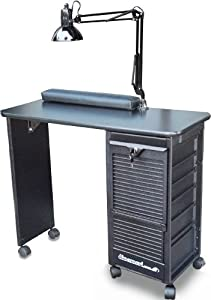 Dina Meri C119KD DLX Manicure Nail Table Black top