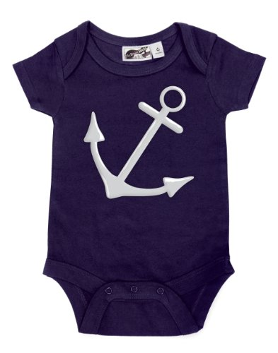 Anchor Navy Blue One Piece 0-3 Months front-1037081