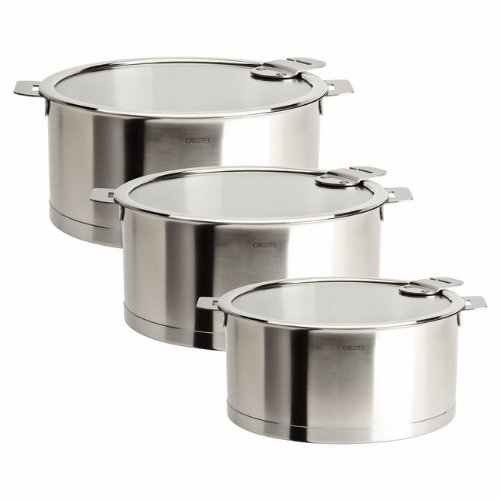Cristel Strate Set of 3 Saucepans with Lids (Cristel Cookware compare prices)