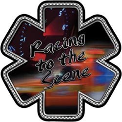 Racing to the Scene Star of Life Decal - 24
