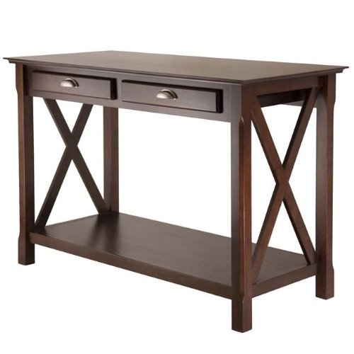 Cheap Xola Console Table with 2 Drawers In Cappucino By Winsome (B00563M9CI)
