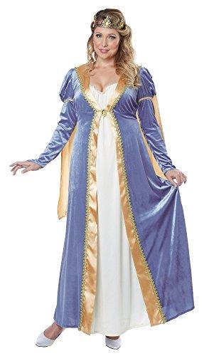 California Costumes Women's Plus-Size California Costumes Elegant Empress Renaissance Lady Long Gown Ren Faire Plus, Blue, 1X-Large