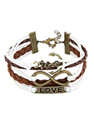 Young & Forever Valentine Special Love Unlimited Infinity Anchor Charm Bracelet For Women By CrazeeMania