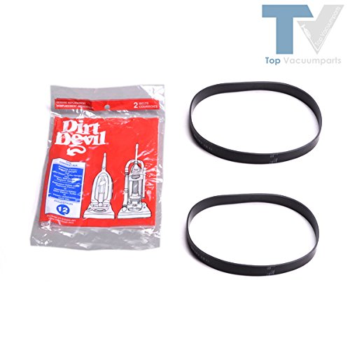 Dirt Devil Royal Style 12 Genuine Vacuum Belts Platinum Force Ultra Vision Turbo 2Pk # 1Lc0011600, 3910355001 3-910355-001 front-595142