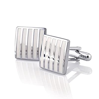 Insten Modern Men's Alloy Cufflink for Suit Wedding Shirt Business Shirt