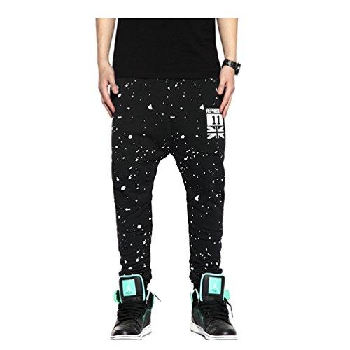 Pizoff Unisex Hip Hop Pants Joggers con effetto schizzi Y0504--XXL