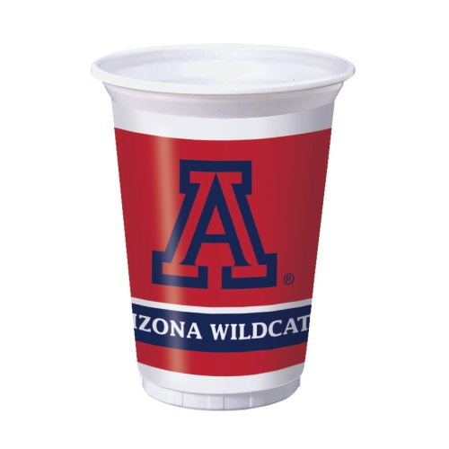 Creative Converting 8 Count Arizona Wildcats Printed Plastic Cups, 20-Ounce - 1