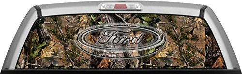 FORD - REAL TREE APG CAMO BACKGROUND GLASSVIEW by ITIGD : Truck Rear Window Decal Wrap (Real Tree Car Window Decal compare prices)
