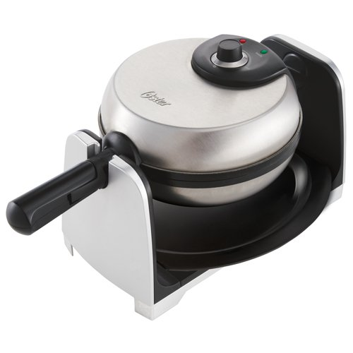 Oster CKSTWFBF21 11/2-Inch Thick Belgian Flip Waffle Maker, Brushed Stainless Steel