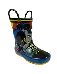 Batman Boys Black Rain Boots 0BMS500