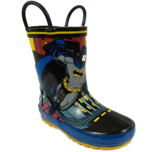 Batman Kid's Rain Boot with Batman, Black, 8 M US Toddler