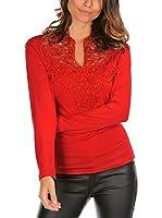 ELEGANCIA Camiseta Manga Larga Liama (Rojo)