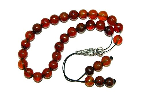 A2-0472 - Natural Agate & Sterling Silver Prayer Worry Beads Tasbih Handmade by Jeannieparnell.