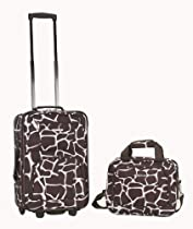 Rockland Luggage 2 Piece Printed Set, Giraffee, Medium