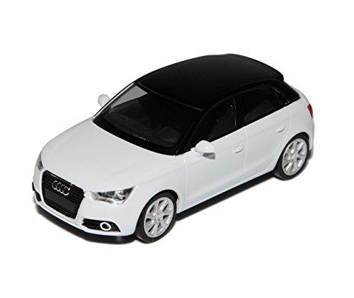 Audi-A1-5-Trer-Weiss-Sportback-8X-Ab-2012-H0-187-Herpa-Modell-Auto-mit-individiuellem-Wunschkennzeichen