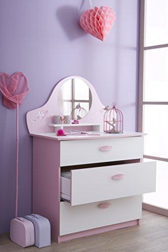 Demeyere-365471-Kommode-mit-3-Schubladen-und-1-Spiegel-Papillon-847-x-972-x-501-cm-orchidee-wei